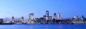 London skyline photo for teeth whitening areas we cover